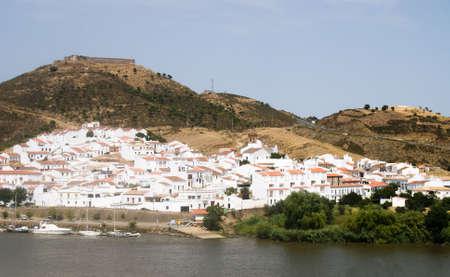 landsape: Landsape  on river Guadiana and mountain Portugal