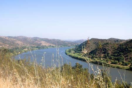 landsape: Landsape  on river Guadiana and mountain Portuga