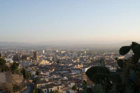 View over Granada, Spain Stock Photo