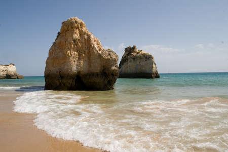 The beach on Algarve coast, Portugal Stock Photo