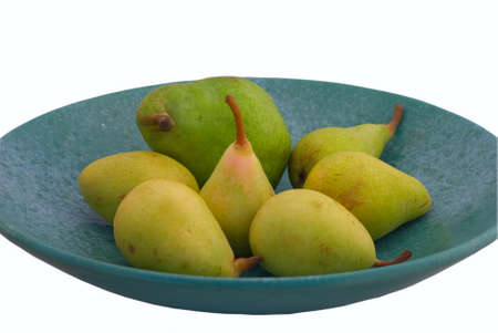 dieta: The pears isolated on white