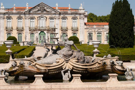 National Palace in Queluz , Portugal