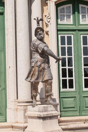 Antique statue in park of Queluz, Sintra, Portugal Editorial