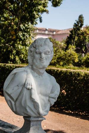Antique statue in park of Queluz, Sintra, Portugal Stock Photo