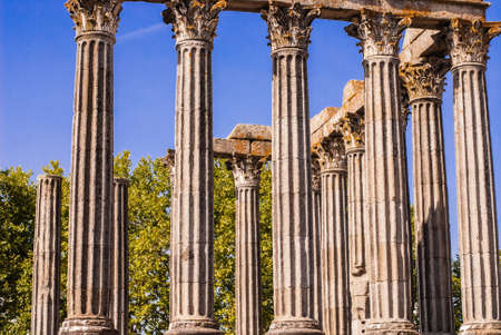 Portugal, Alentejo, Evora: Diana Temple ; the temple was constructed in first century AD in honour of emperor August photo