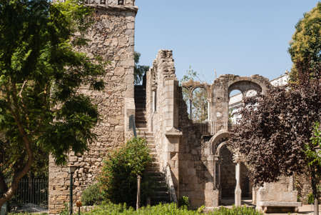 recognised: Evora (Portugal), recognised as an UNESCO World Heritage Site. Stock Photo