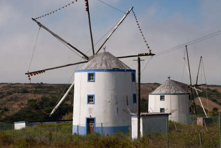 A typical Portuguese windmill in Sintra Stock Photo