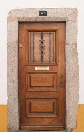 The door in Evora, Portugal