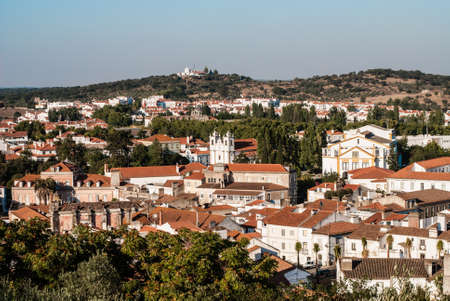 Looking over typical houses in Montemor, Alentejo, Portugal