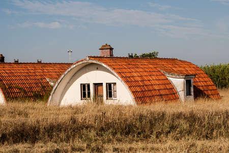 The barn in field in Algarve, Portugal Stock Photo