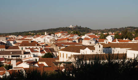 Looking over typical houses in Montemor, Alentejo, Portugal Stock Photo