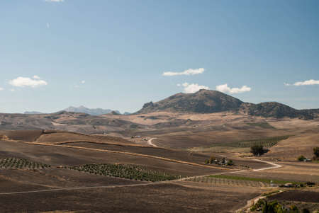 The landscape of Andalusia, Spain