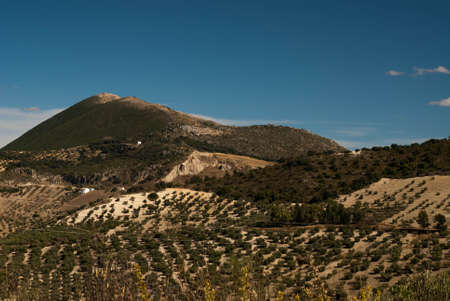 A view across the beautiful landscape of Andalucia in the southern part of Spain photo