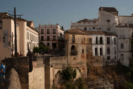 Puenta Nueva  - the bridge connecting the two parts of the spanish town Ronda in Andalusia, Spain