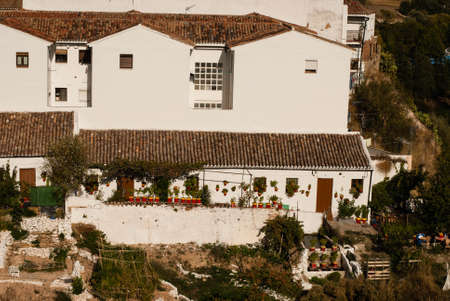 ronda: View of white city Ronda, Andalusia, Spain Stock Photo