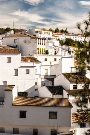Setenil de las Bodegas is one of the pueblos blancos  white villages  of Andalucia, Spain, famous for its dwellings built into rock overhangs above the Rio Trejo photo