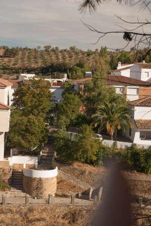 Setenil de las Bodegas is one of the pueblos blancos  white villages  of Andalucia, Spain, famous for its dwellings built into rock overhangs above the Rio Trejo