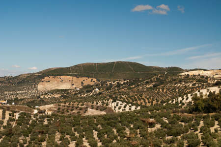 A view across the beautiful landscape of Andalucia in the southern part of Spain Stock Photo