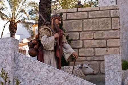 Indoor nativity  of Christ scene photo
