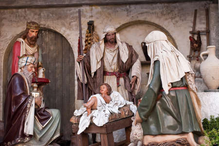 Indoor nativity  of Christ scene photo