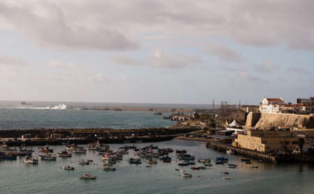 View of port in Sines, Portugal