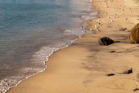 Beach of Atlantic ocean in Sines Stock Photo