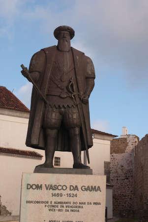Monument of Vasco de Gama Stock Photo