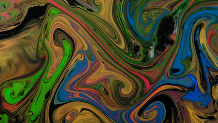 Multicolored and dirty psychedelic patterns of multicolored paints mixed with each other 免版税图像