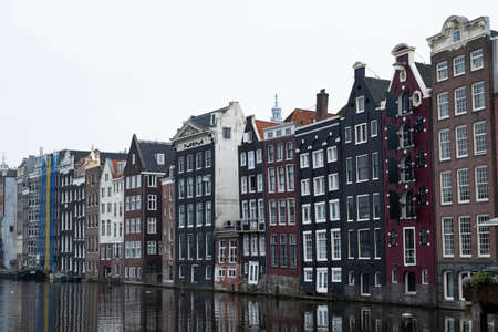 Crooked houses on the Amsterdam waterfront