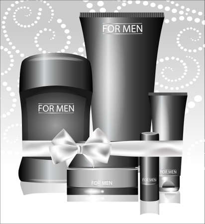 for men: Vector different types of cosmetics for men