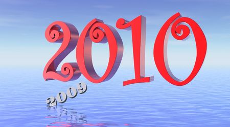 0 1 year: New year 2010 in red, last year 2009 drowning
