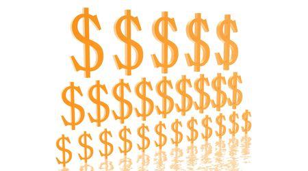 Pyramid of growing dollars Stock Photo - 5462253