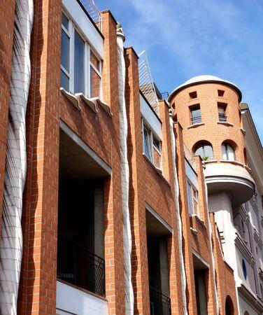 eccentric: Eccentric facade of a building Stock Photo