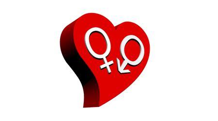 heterosexuality: Heterosexual couple in red heart
