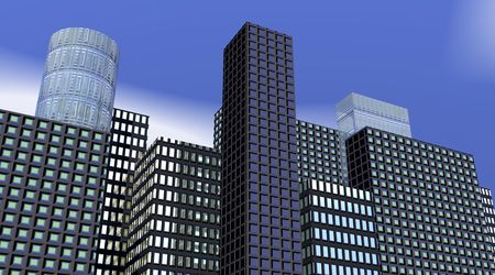 Buildings by morning Stock Photo - 6082454