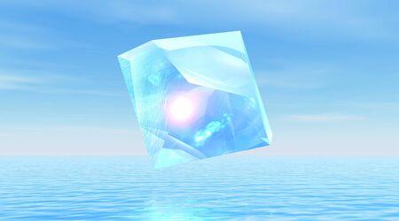 Diamond over quiet ocean Stock Photo - 6082452