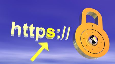 Internet secure address with padlock photo