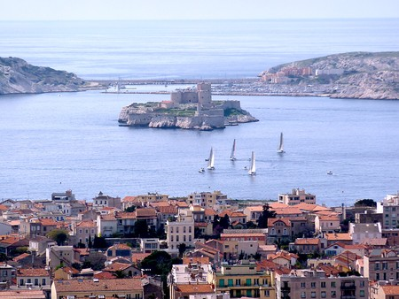 If castle in a Frioul island at Marseilles, France Stock Photo
