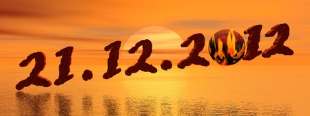 Date for the end of the world according to Maya prophecy Stock Photo - 10732079