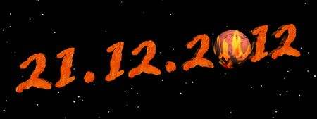 prognostication: Date for the end of the world according to Maya prophecy Stock Photo