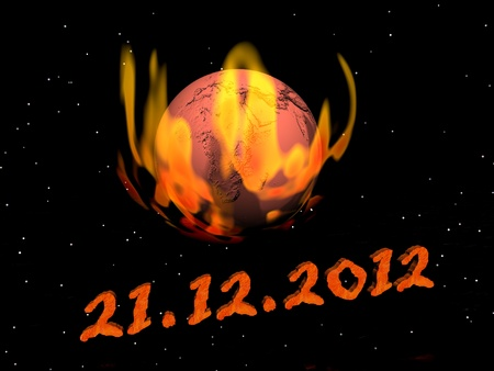 mayan prophecy: Date for the end of the world according to Maya prophecy Stock Photo