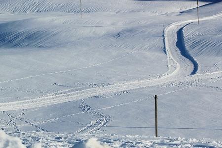 cross country: cruza la pendiente pa�s en monta�a nevada