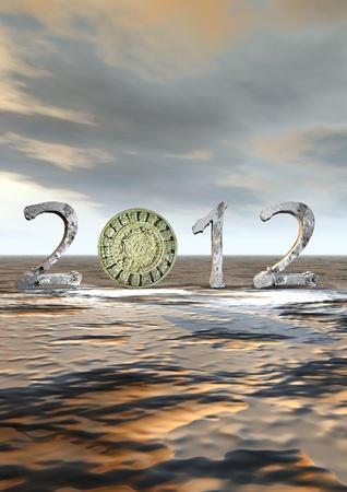 Aztec calendar instead zero in 2012 photo