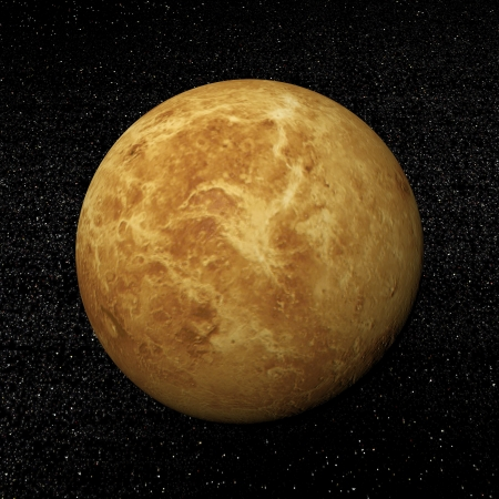 Venus planet in the universe surrounded with plenty of stars Stock Photo - 16801401