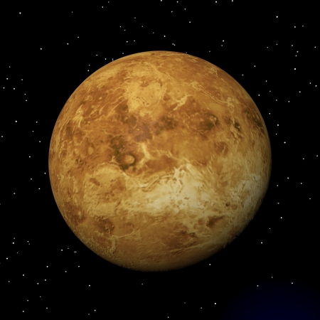 mariner: Venus planet in the universe by night