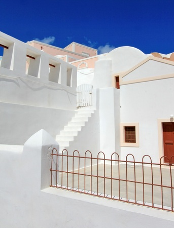Typical new white house in Santorini, Greece, by beautiful weather Stock Photo - 17431366
