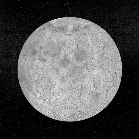 Lune planète dans l'univers de la nuit. Belle texture de http:planetpixelemporium.comearth.html