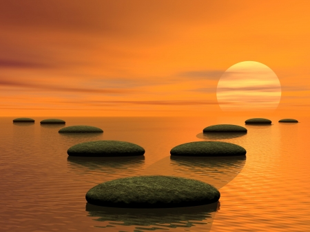 太陽と空に他につながる 1 つ 2 つの方法 写真素材