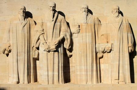 Reformation wall in Parc Des Bastions, Geneva, Switzerland  写真素材