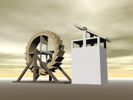 machine-gun: Loopvlak-wheel machine-geweer, kruisboog